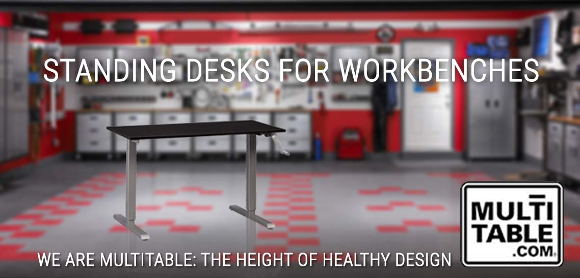 A Standing Desk For A Garage Workbench MultiTable