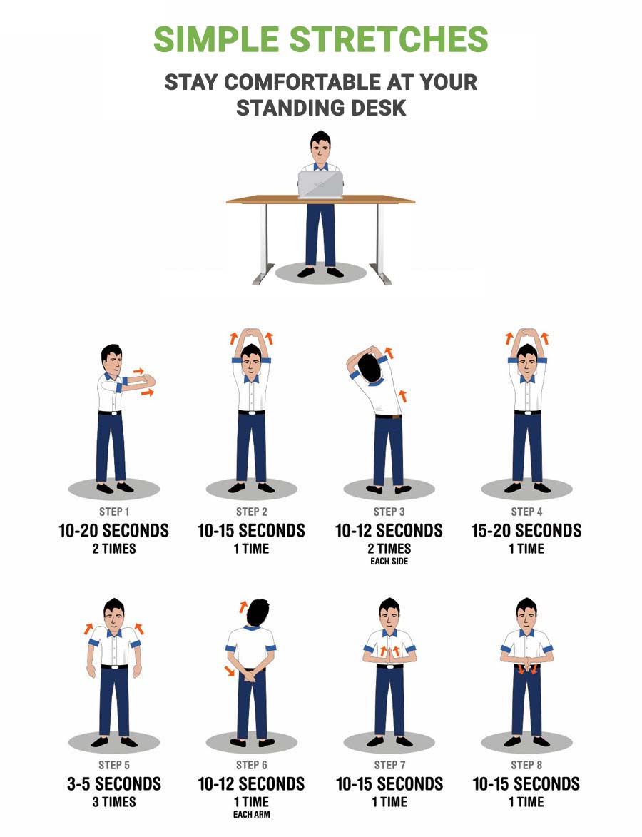 Standing Desk Simple Stretches Multitable