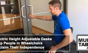 Electric Height Adjustable Desks Help People In Wheelchairs Reclaim Their Independence MultiTable