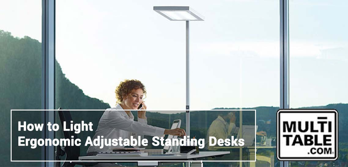 Lighting Ergonomic Adjustable Standing Desks MultiTable Standing Desk Experts