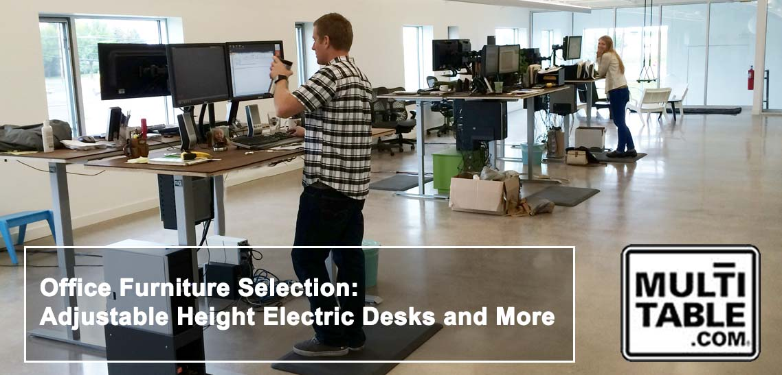 Office Furniture Selection Adjustable Height Electric Desks And More MultiTable