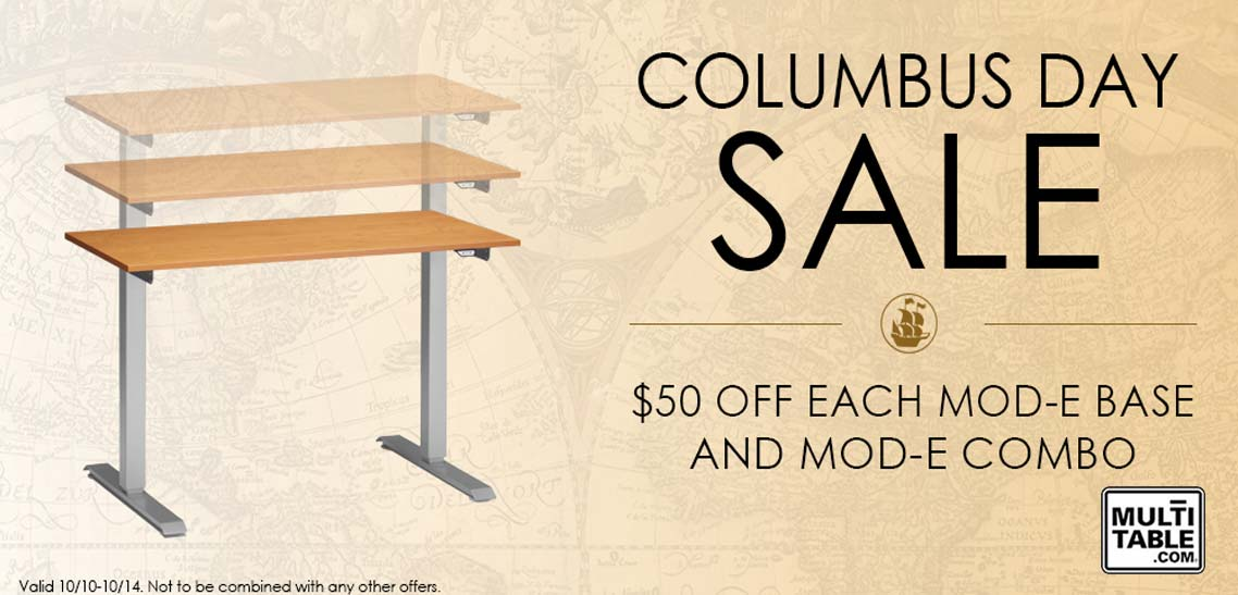 Standing Desk Sale October 2013 Columbus Day MultiTable