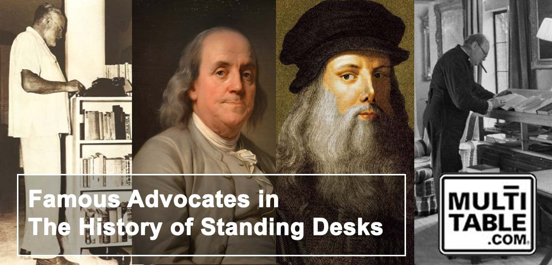 Famous Advocates In The History Of Standing Desks MultiTable Standing Desk History