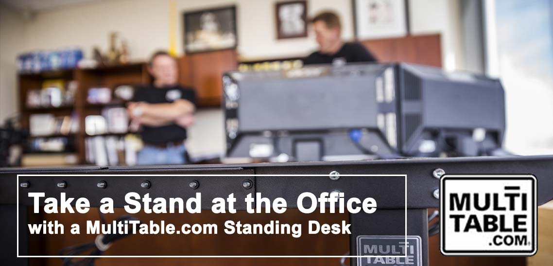 Take A Stand At The Office With A MultiTable Standing Desk
