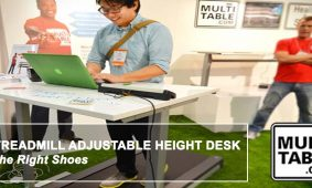 A Treadmill Adjustable Height Desk The Right Shoes MultiTable