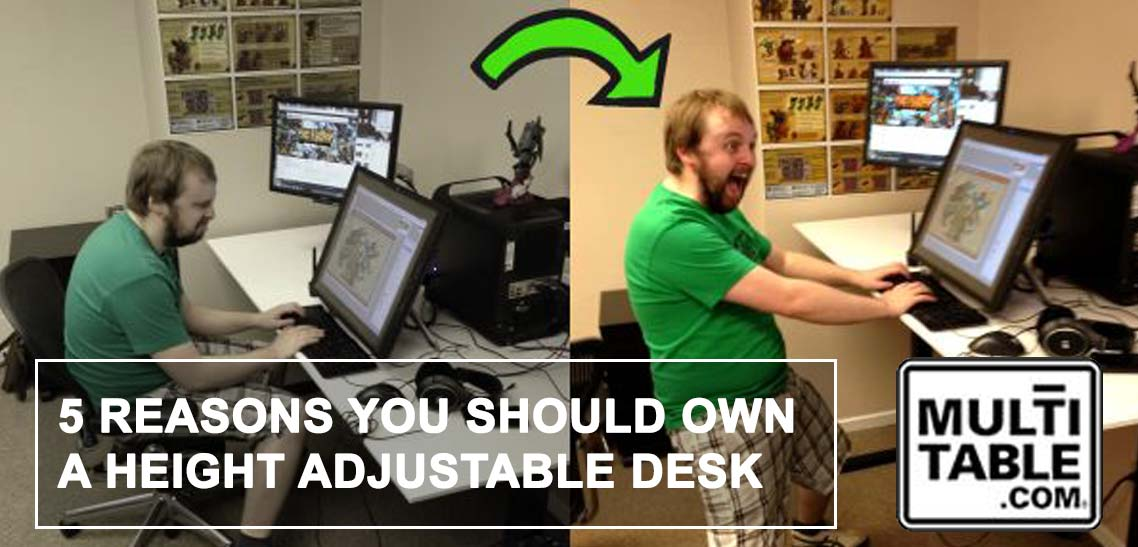 5 Reasons Why You Should Own A Height Adjustable Desk