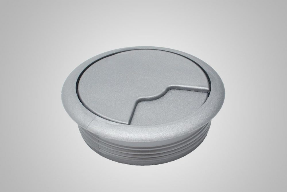 Grommet Cover And Hole Silver
