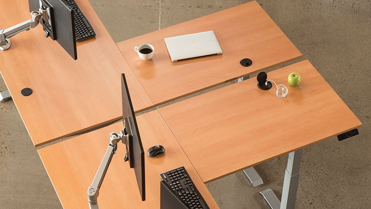 Grommet Covers And Holes MultiTable Standing Desk Accessories