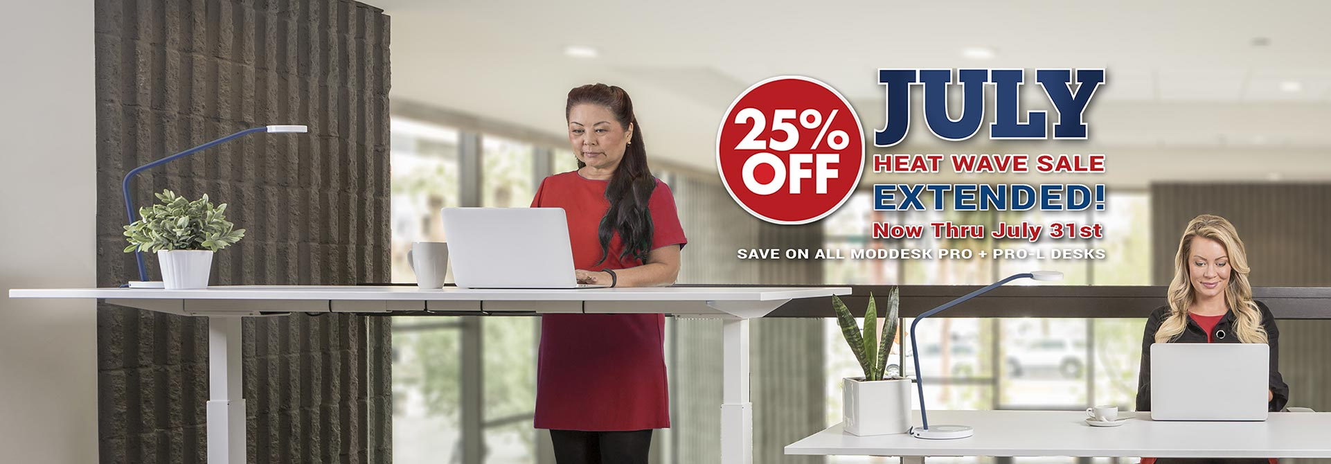Height Adjustable Standing Desk Sale MultiTable Extended