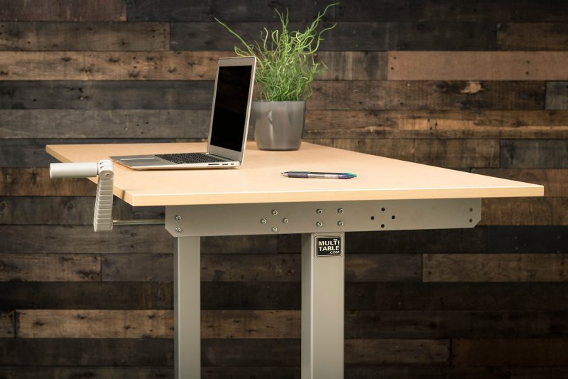 Hand Crank Height Adjustable Standing Desk By MultiTable