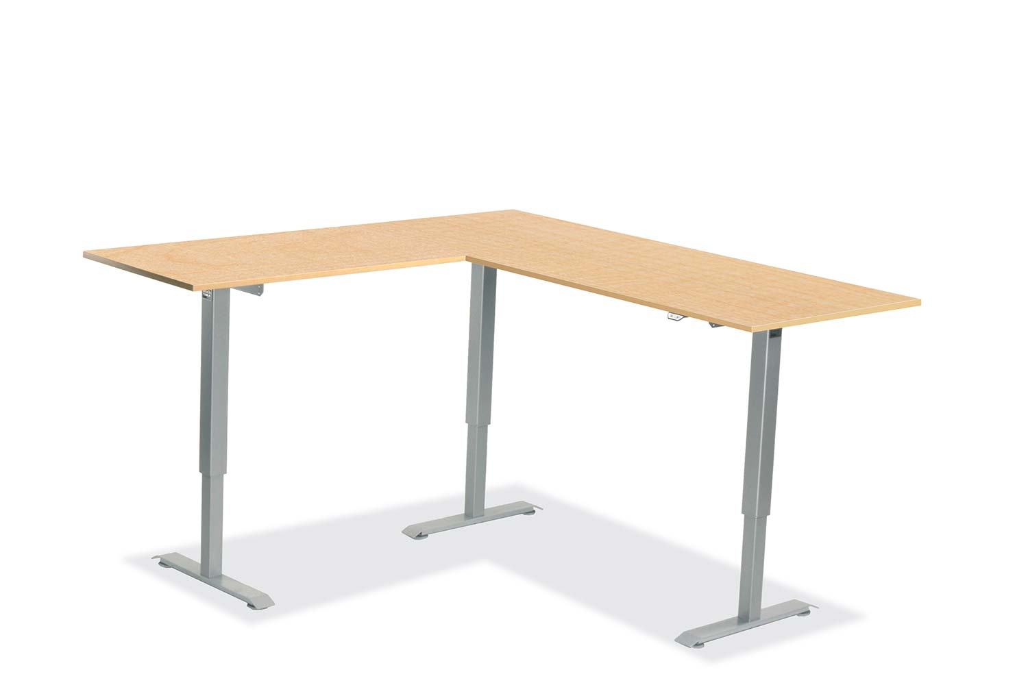 L Shaped Standing Desk Fusion Maple L 5 Multitable