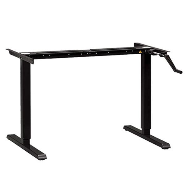 MultiTable Manual Standing Desk Base Black
