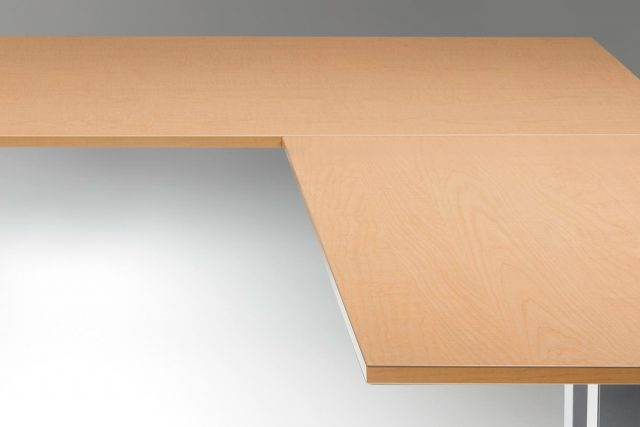 Standing Desk Top Fusion Maple L Shaped