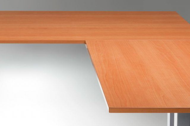 Standing Desk Top Natural Pear L Shaped