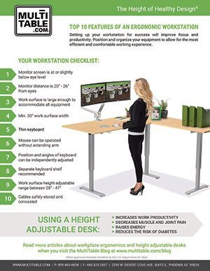 MultiTable Top 10 Features Of An Ergonomic Workstation