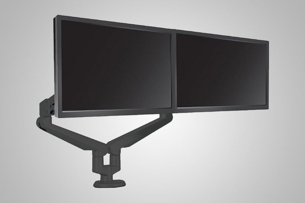 Dual Monitor Arms Black MultiTable