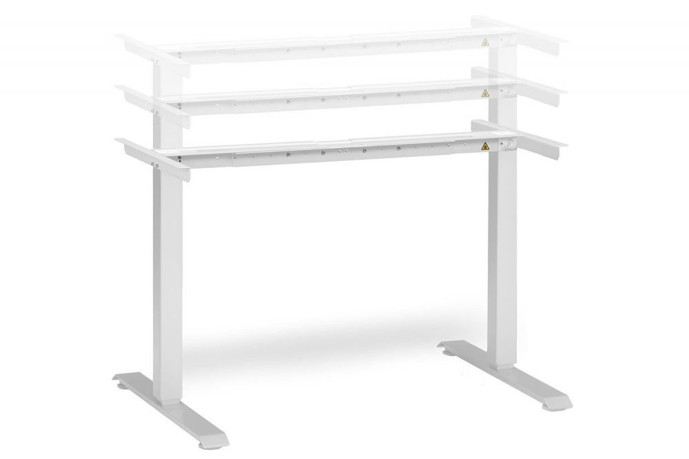 Electric Height Adjustable Standing Desk White Frame MultiTable