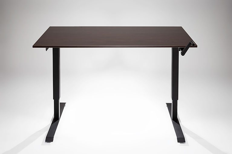 Manual ModTable Standing Desk Black Espresso Hand Crank