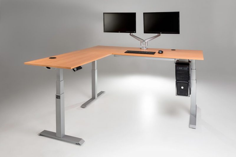 ModDesk Pro L Shaped Standing Desk With All Accessories