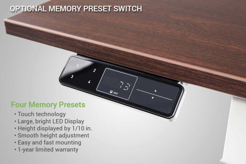 Standing Desk Memory Preset Switch Upgrade Specs