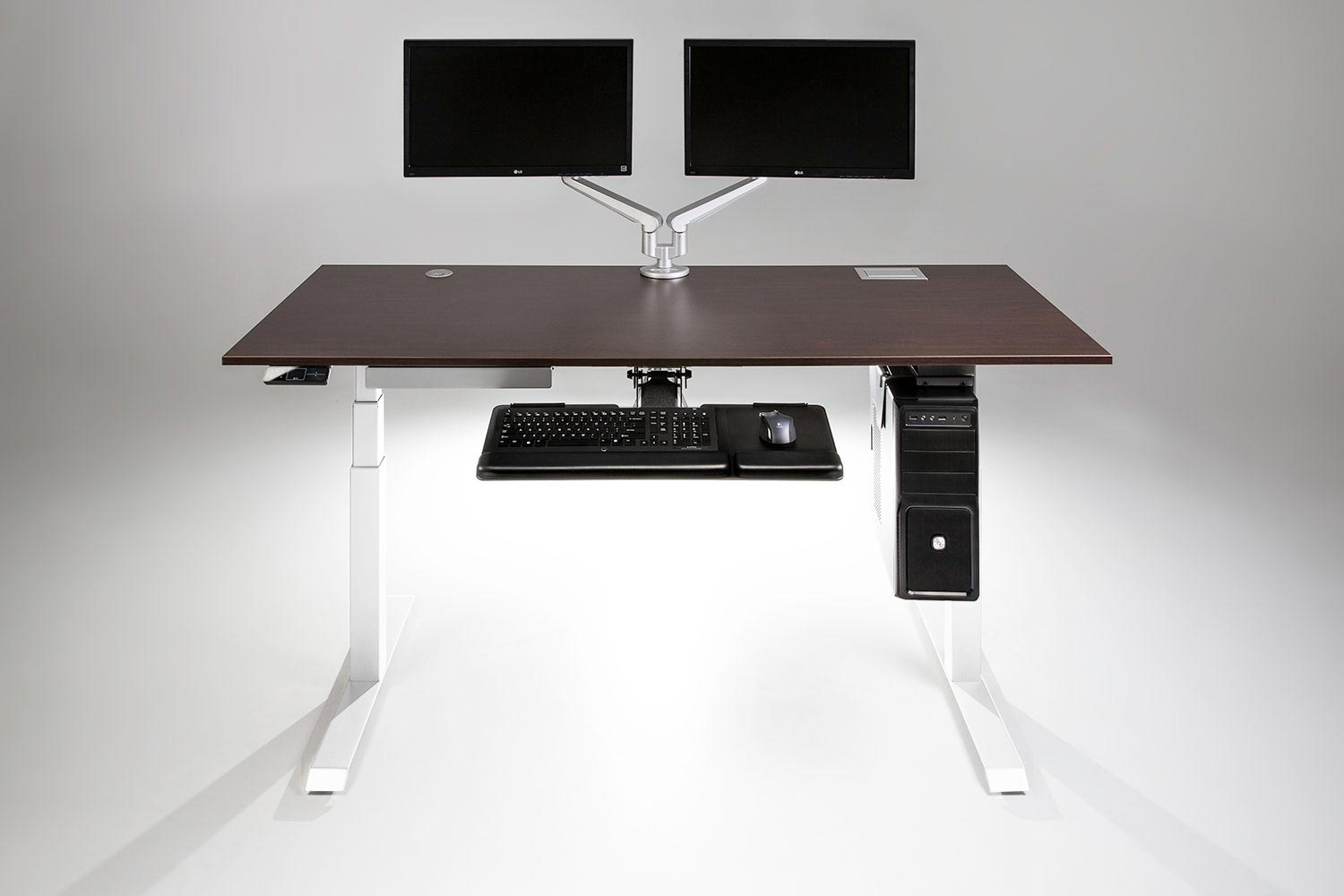 moddesk pro adjustable height standing desk multitable. Black Bedroom Furniture Sets. Home Design Ideas