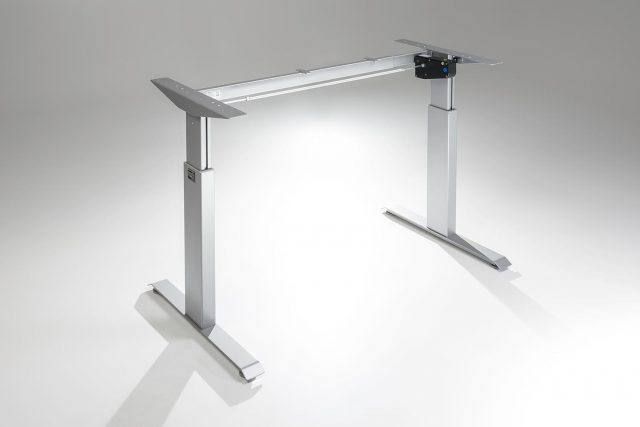 FlexTable Height Adjustable Standing Desk Frame Silver A