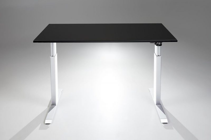 FlexTable Height Adjustable Standing Desk White Black MultiTable