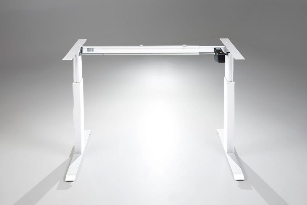 FlexTable Height Adjustable Standing Desk White Electric Frame MultiTable