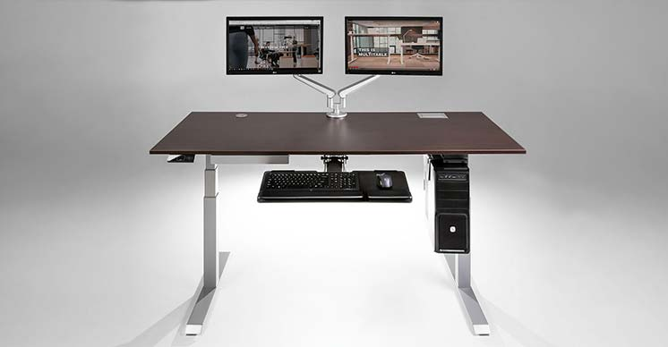 Sit Stand Adjustable Height Office Desk