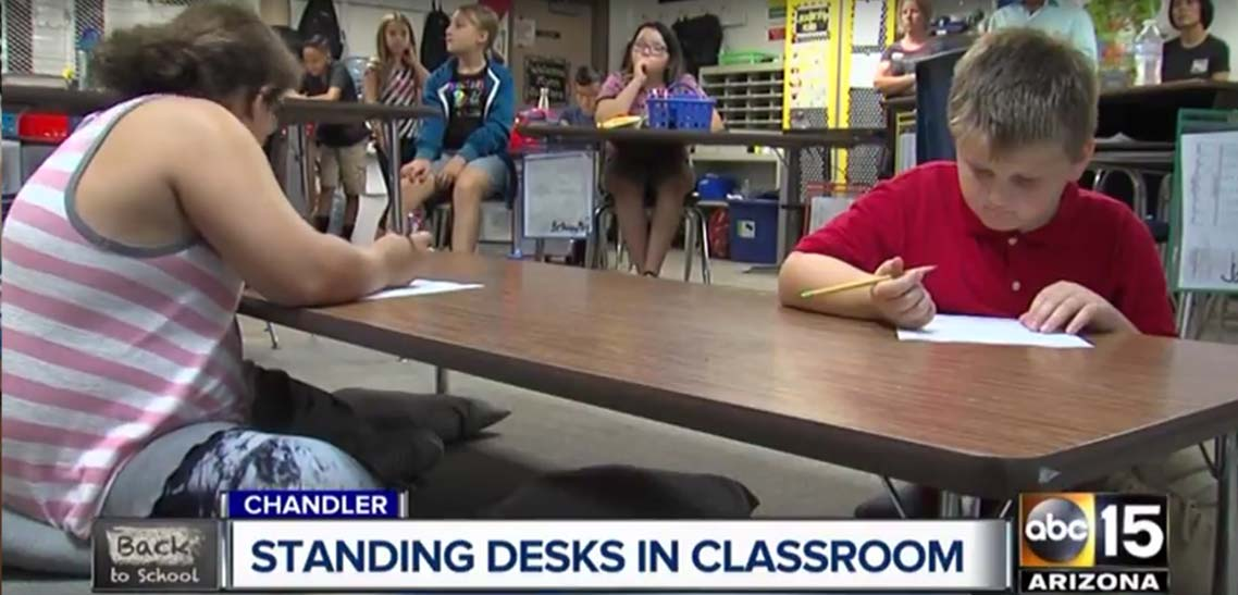 MultiTable Standing Desks Help Students In Schools