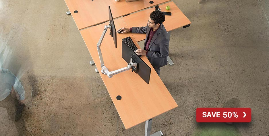 L-Shaped Standing Desk by MultiTable