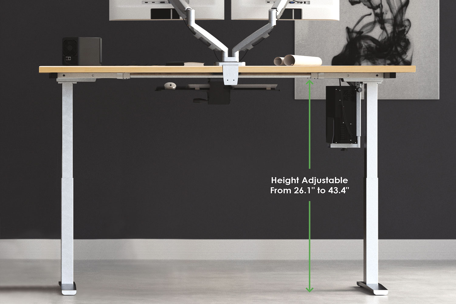 MultiTable Mod-E2 Electric Height Adjustable Table Standing Desk