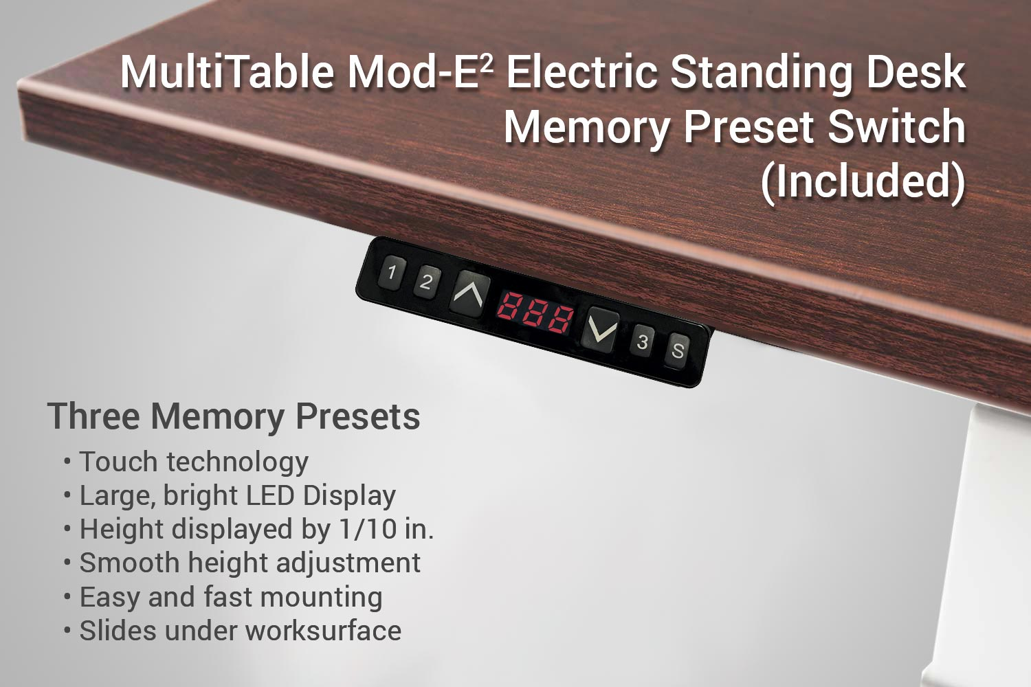 MultiTable Mod-E2 Electric Standing Desk Memory Preset Up Down Switch