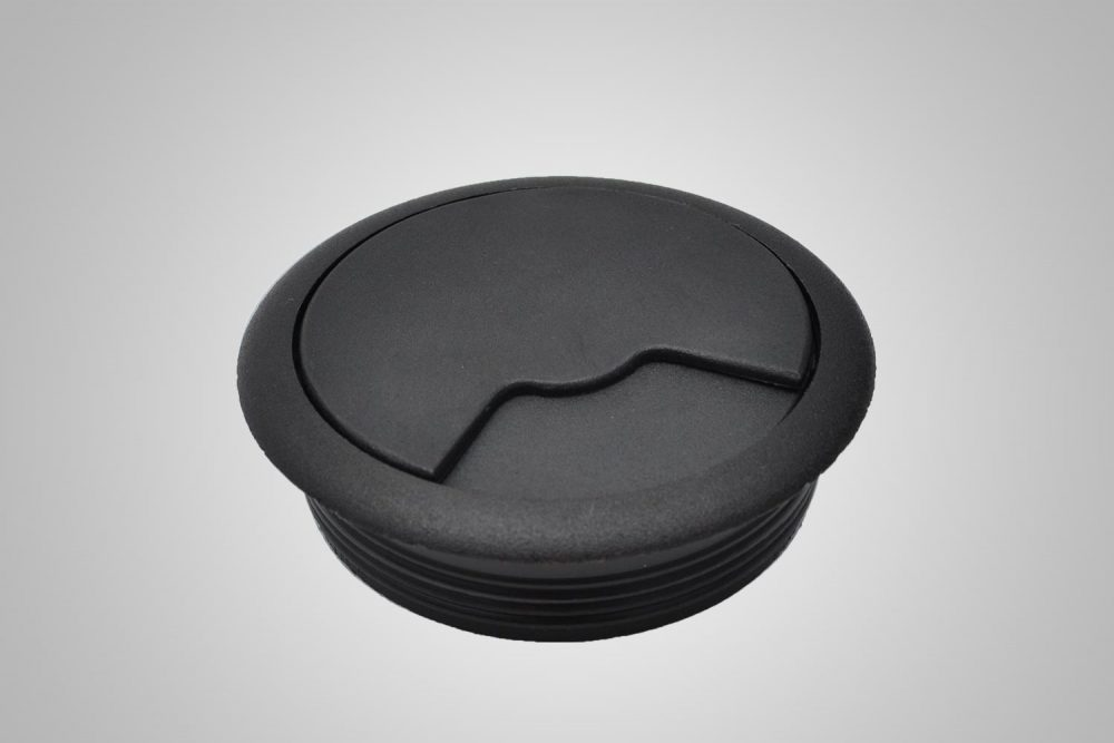 Grommet Cover And Hole Black
