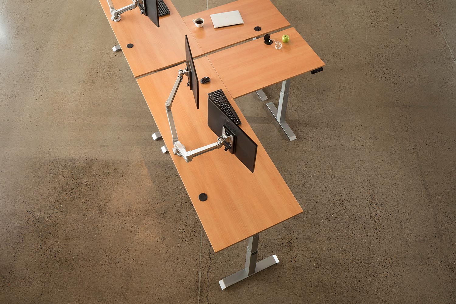 MultiTable Mod-E Pro L-Shaped Ergonomic Standing Desk Frame