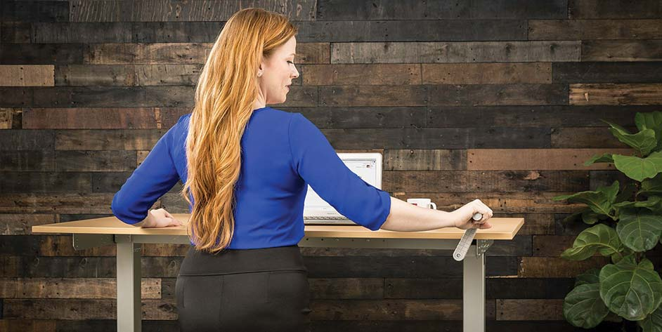 Adjustable Height Hand Crank Standing Desk ModTable