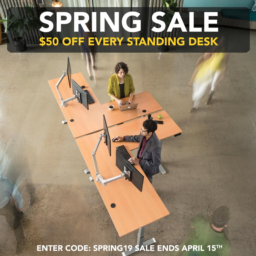 Spring Standing Desks Sale 2019 MultiTable Height Adjustable Standing Desks